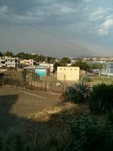 Heranziehender Sandsturm über Assuan